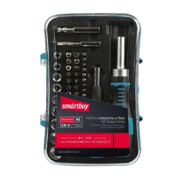 Отвертки с набором бит (насадок) Smartbuy, 65 предметов