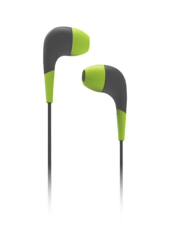 Внутриканальные наушники Curve, Smartbuy зелено серые