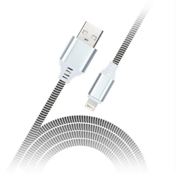 Дата-кабель Smartbuy MicroUSB в нейлоновой оплётке Socks, длина 1м, 2А, черно-белый